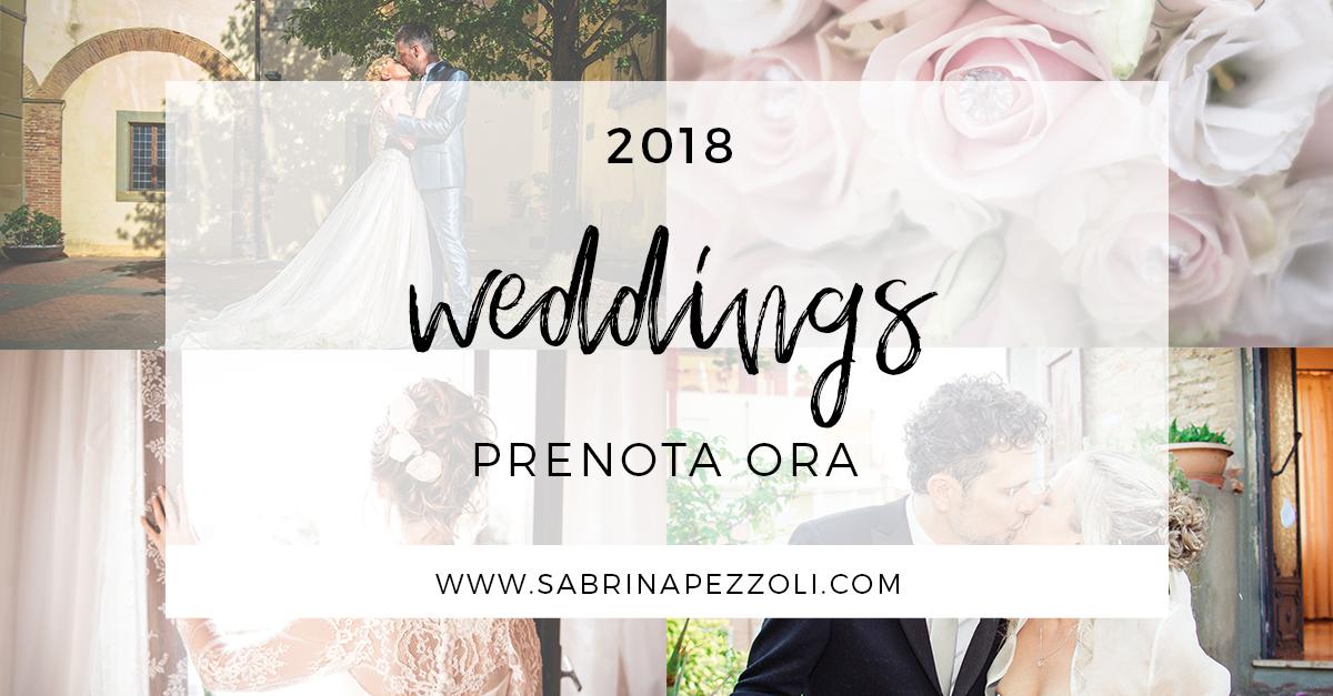 prenotazione fotografo matrimonio 2018